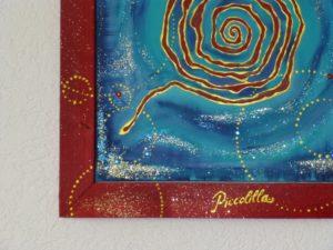 """Detailansicht Gemälde """"Antirio"""""""