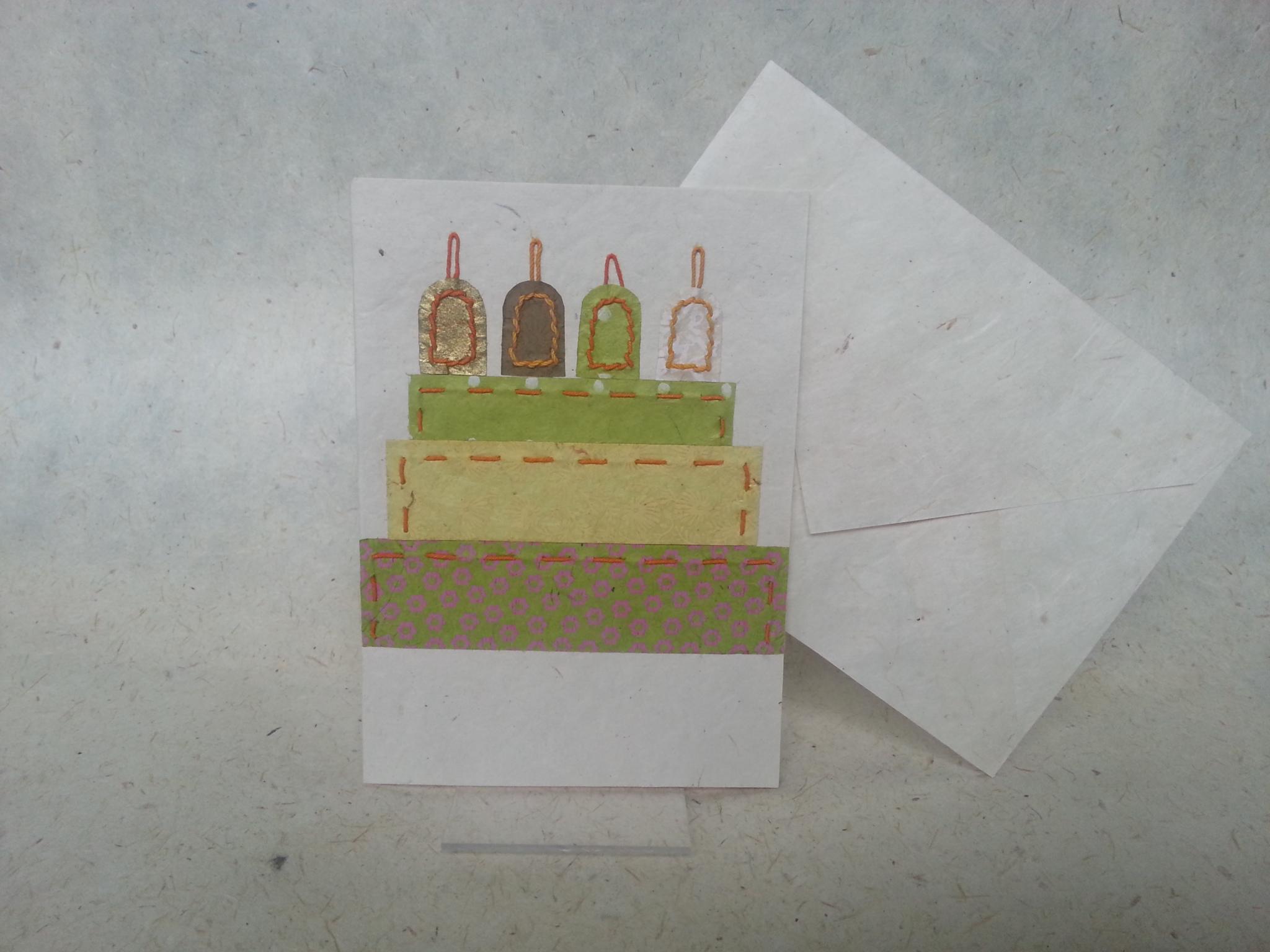Faltkarte Geburtstagskuchen